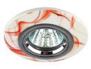 DK62 CH/WH/R Светильник ЭРА декор керамический «красный » MR16,12V/220V, 50W, белый/красный/хром