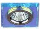 DK8 CH/PR Светильник ЭРА декор стекло квадрат MR16,12V/220V, 50W, хром/перламутр (5/50)