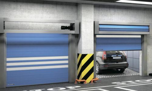 Промышленные скоростные спиральные ворота DoorHan