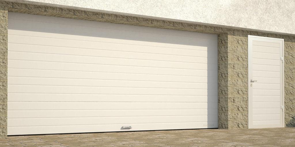 Гаражные секционные ворота с пружинами растяжения DoorHan RSD01