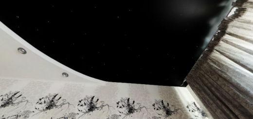 """Чёрный глянцевый потолок """"звёздное небо"""""""