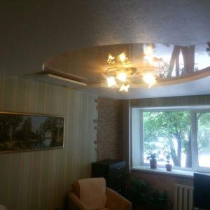 Двухцветные натяжные потолки, город Арсеньев