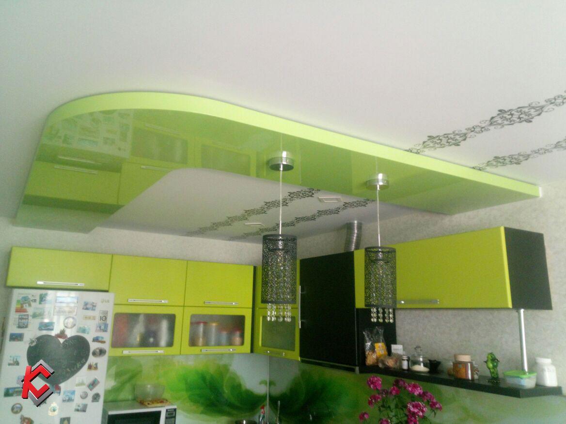 Парящие натяжные потолки для кухни, город Арсеньев