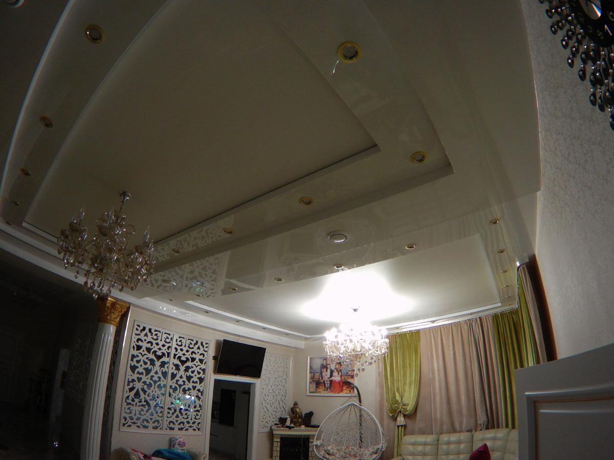 Многоуровневый натяжной потолок, город Арсеньев